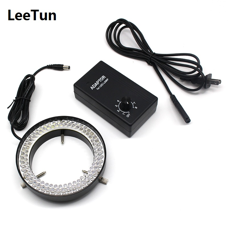 цена 96 LED Adjustable Vision Light Source Microscope Supplement Illumination Diameter 82mm Machine Ring Lamp White Lighting