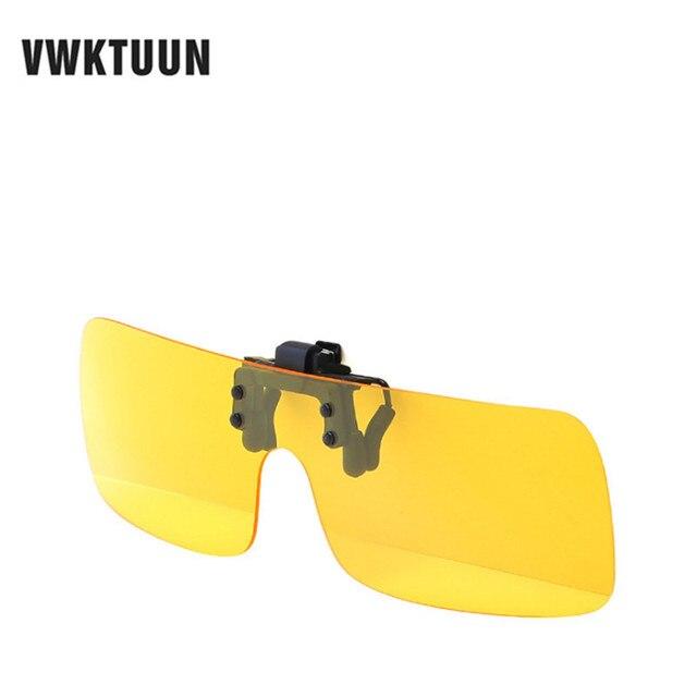 9b8b504ca2 VWKTUUN Polarized Sun Glasses Clip On Sunglasses Driving Night Vision  Lenses Eyeglasses Integrated Shades For Women