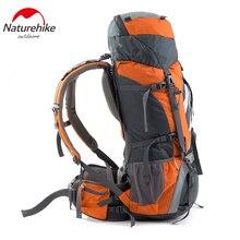 NatureHike 70L حقيبة الظهر حقيبة للتنزه في الخارج النايلون مقاوم للماء حقيبة السفر سبائك الألومنيوم الإطار الخارجي الرياضة على ظهره