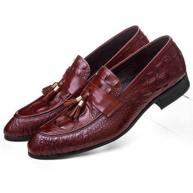 a29ffb04 Moda negro/marrón Tan verano mocasines zapatos de graduación Zapatos de  vestir para Hombre Zapatos