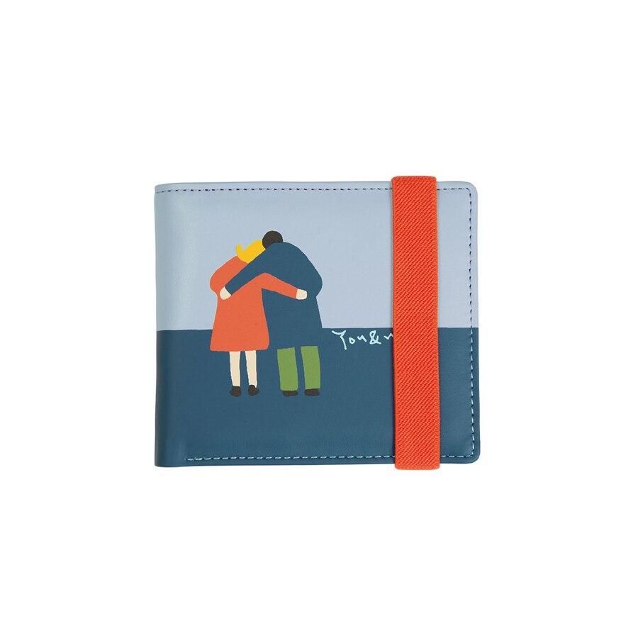 [2018 nuovo arrivo] YIZISToRe bello DELL'UNITÀ di elaborazione stampato foglio brevi portafogli donne con stringa elastica in VITA SEMPLICE serie (DIVERTIMENTO KIK)