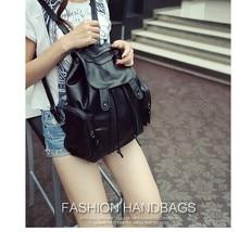 ONEFULL NEW FASHION backpack women zipper water wash large capacity bag vintage black super soft pu leather brand