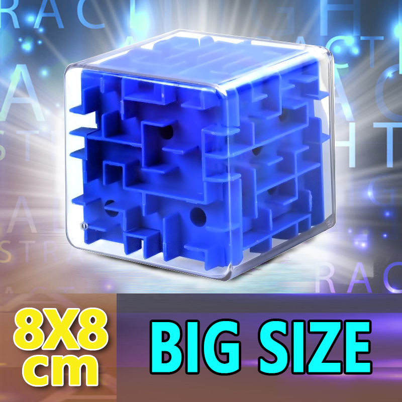 Big Size 3D Speed Maze Magic Cube Puzzle Game Cubos Magicos Learning Toys Labyrinth Rolling Ball Toys For Chilren Adult 8X8X8CM