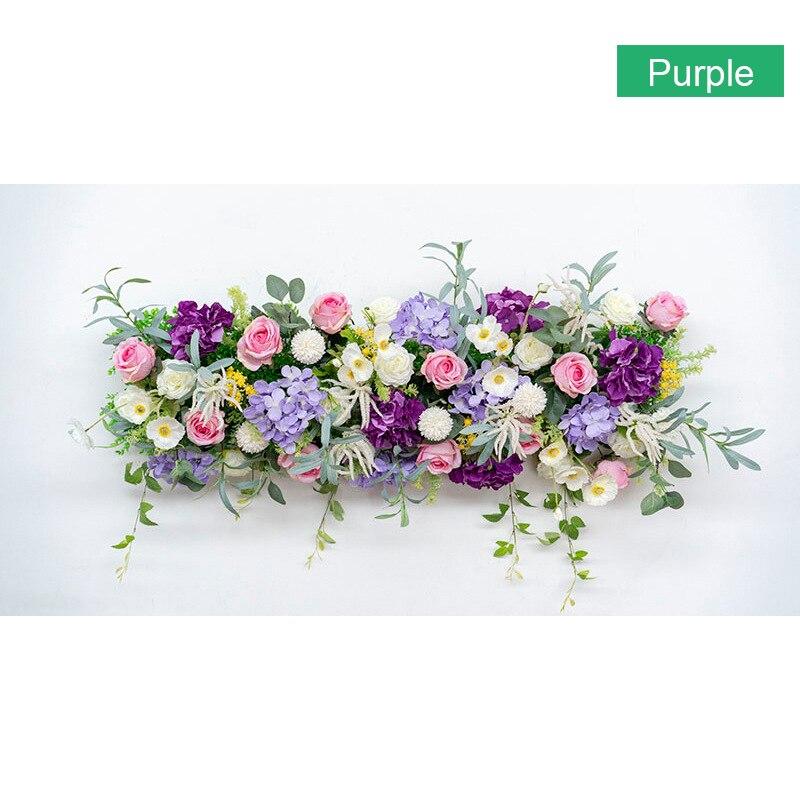 Artificielle Rose fleur rangée mariage décoration arquée porte Flores soie hortensia route cité fleurs Maison partie décoration Maison