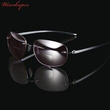 07686d8d9a94 WEARKAPER Frameless Titanium Bifocal reading glasses Outdoor fishing  Multifunction sun Readers Glasses men diopters Glasses