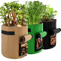 3pcs Home Garden Breathable Potato Tomato Vegetable Plant Growth Bag Vertical Garden Grow Bag pot Garden Planting Accessories