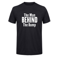 LUSLOS  Husband Shirt The Man Behind the Bump Mens T shirt Fathers Day Gift for Dad Maternity New to be