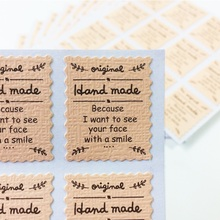 120 Pcs/lot New Upscale Embossed Pink stamp design Handmade DIY Multifunction Seal label Sticker for Gifts Packaging Label