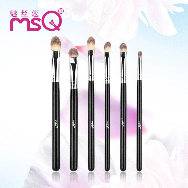 Women New 6 Pcs Face Makeup Brush Set Powder Blush Foundation Eye Shadow Brush Soft Synthetic Hair Cosmetic Brushes For Beauty