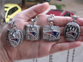 2001 2003 2004 2015 - 2014 New England Patriots World Championship Ring Pendant 1 set 4 Together wholesale fan gift