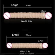 45cm Super Long Soft Flexible Double Heaed Dildo, Realistic Penis Artificial Double Ended Dildo Lesbian Erotic Toys Sex Product