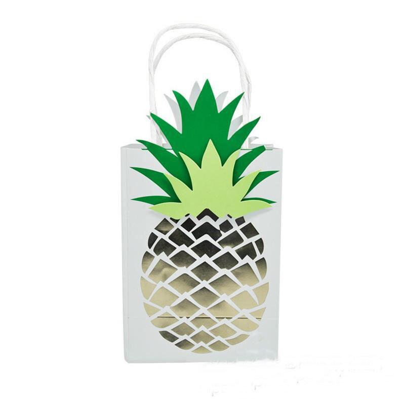 4pcs Set New Cute Multifuntion Pineapple Paper Bag