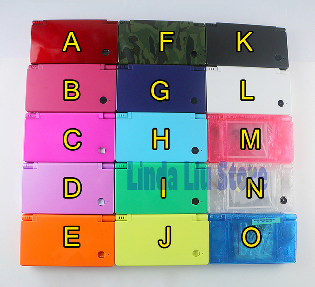 For Limited Edition Housing Case Shell With Buttons for Nintendo DSi for NDSi Replacement(15color available)