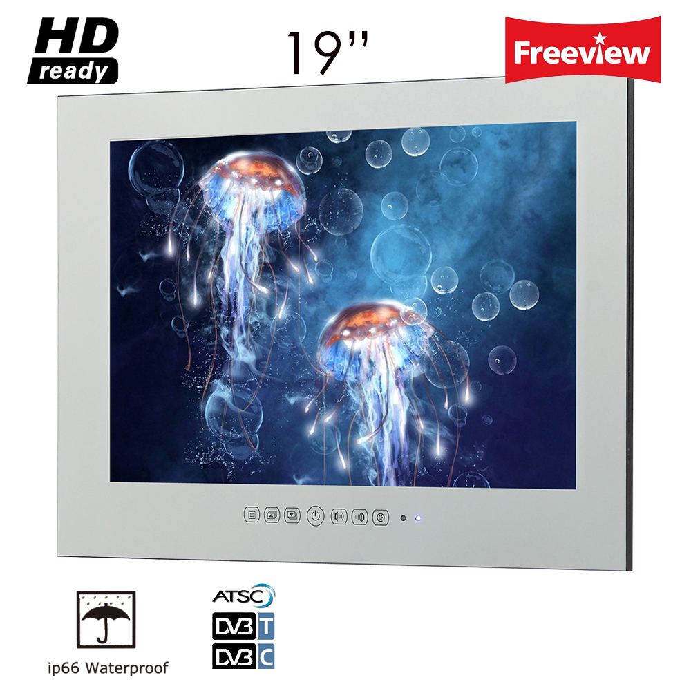 Souria IP66 19 inch Bathroom TV / Television Magic Mirror / LED TV with Mirror Screen Vanishing Waterproof Hotel TV ...