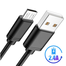 цена на USB Micro Cable 2.4A For Xiaomi Redmi Note 7 Mi 9 Fast Charging Data Sync For Huawei Xiaomi Samsung Galaxy S9 Oneplus Data Cord