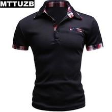 Men casual business work dress polo shirts man summer short sleeve tops male tees men's leisure polo shirt M L XL XXL MTTUZB