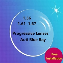 цена 1.56 photochromic progressive lense color film becomes dimmed tea myopia resin lenses Free installation free shipping онлайн в 2017 году