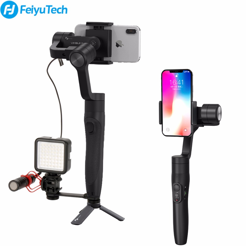 Feiyutech Vimble 2 Smartphone Gimbal 3 axis Gopro Gimbal 18cm Extendable Stabilizer for iPhone X 7 plus Samsung VS xiaomi gimbal