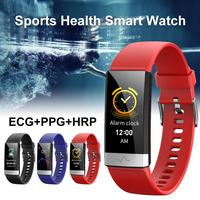 Blood Pressure Monitor Wrist Tonomete Blood Pressure Pulse Monitors Heart Rate Monitor Phygmomanometer Watch V19 ECG PPG Sports