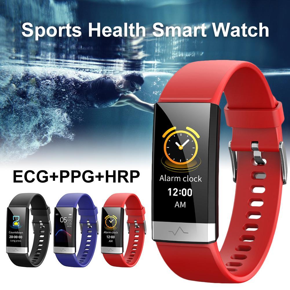 Monitor de oxigênio no sangue de Pulso Relógio Monitor de Freqüência Cardíaca Phygmomanometer V19 Tonomete ECG PPG Esportes