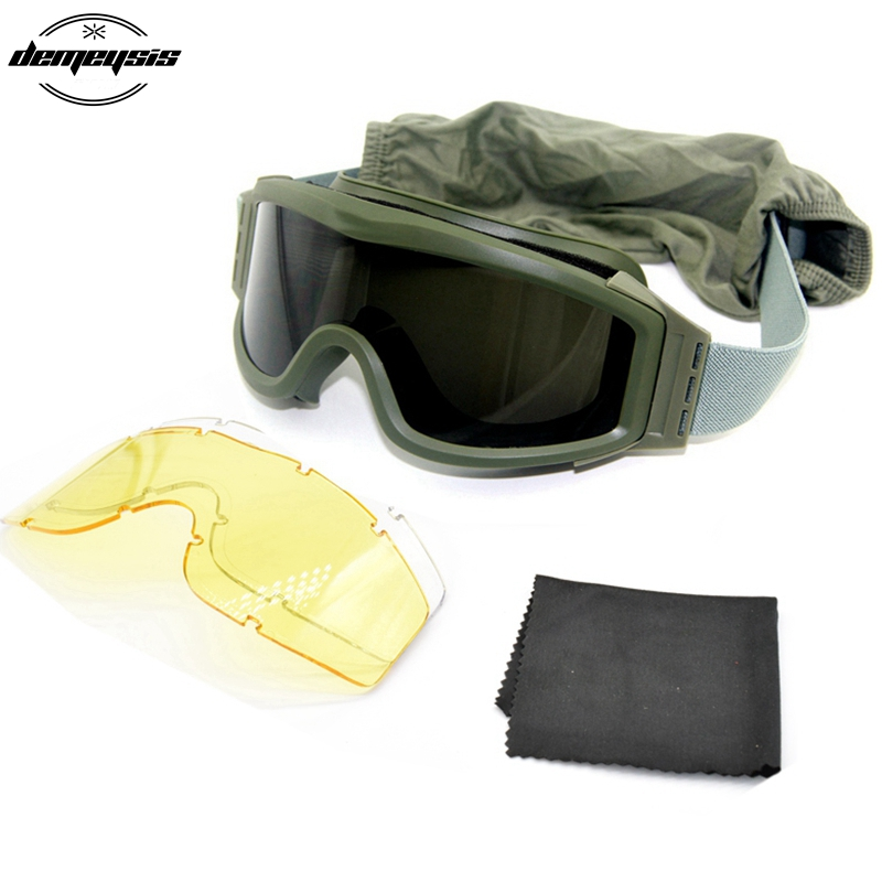 HTB1VK jXsfrK1RkSmLyq6xGApXaM - Black Tan Green Airsoft Tactical Goggles USMC Tactical Sunglasses Glasses Army Airsoft Paintball Goggles