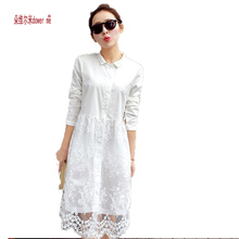 White lace dress 2017 new arrival women summer dress long sleeve cute casual dresses Vestidos roupas femininas free shipping