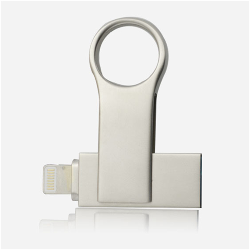 iOS11 Metal OTG Flash Drive 8GB 16GB 32GB 64GB 128GB For iOS and USB For PC For Tablet OTG Pendrive for iPhone otg U Disk