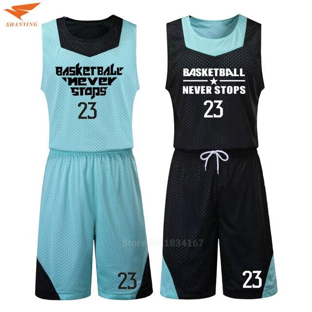 534443e9e Homens Camisa De Basquete Define Uniformes Respirável de basquete  Personalizadas kits DIY barato retrocesso basquete camisas