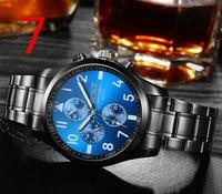 В 2019 году, недавно запущенный золотой кварц люксовый бренд Старший военные часы и 23 мм из нержавеющей стали логистики мужские часы. 7