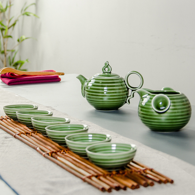 Vintage Tea Cups Part - 50: Ceramic Tea Sets Chinese Tea Cups Porcelain Vintage Tea Service Loose Leaf  Tea Infuser 6 Teacups