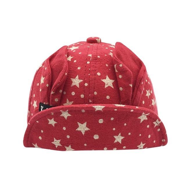 Newborn Hat Primavera E Outono Coreano Meninos E Meninas Estrela Orelha de  Coelho Cap Bebê Boné a46aab35946