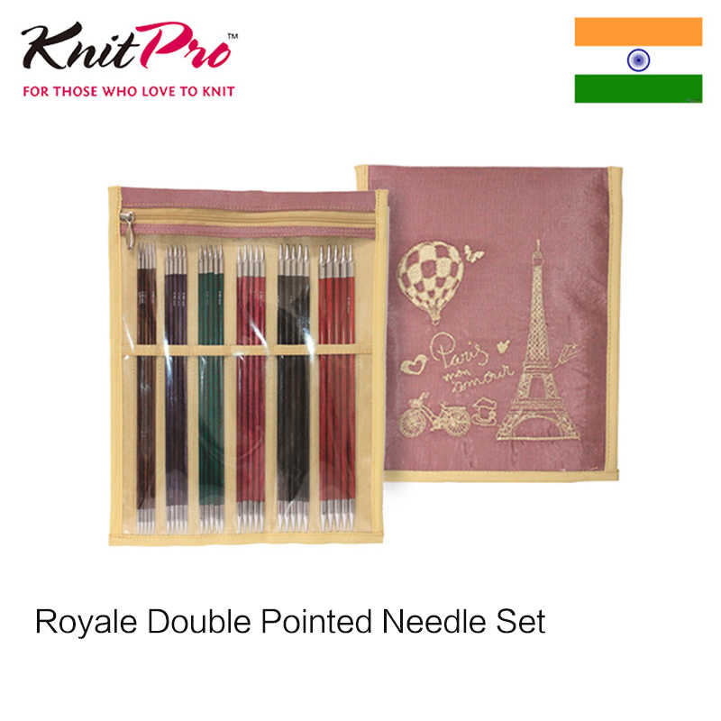 KnitPro Set Of 6 Royale Double Pointed Knitting Pins Needles 15cm