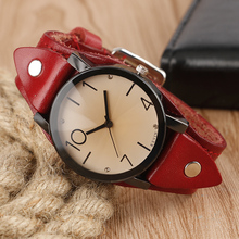 KEVIN Cool Steampunk Crystal Wristwatch Women Leather Strap 4 Styles Quartz-watch Female Dress Watch Sports Casual