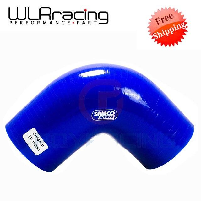 """Prix pour WLRING MAGASIN LIVRAISON GRATUITE-BLEU Couleur, 2.5 """"63mm 90 Degrés Coude Silicone Tuyau d'arrosage Turbo Admission WLR-SH9025"""