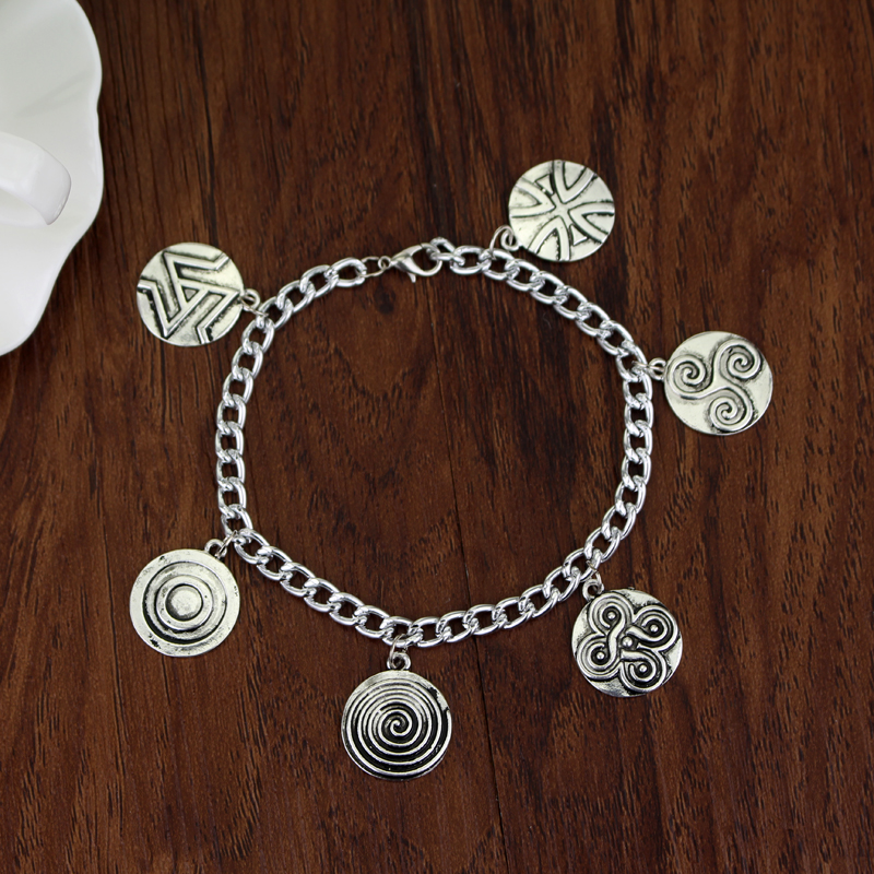 New Fashion Movie Supernatural Tv Series 6 Charms Charm Bracelet