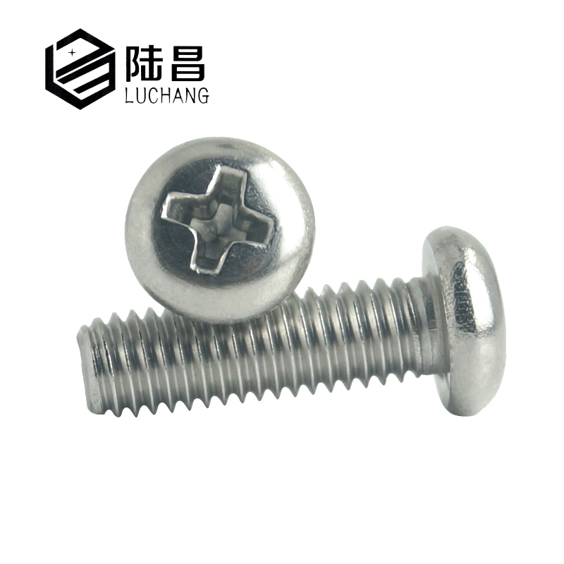 LUCHANG M2 M2 5 M3 M4 304 Stainless Steel Cross Phillips Recessed Round Head PM Machine