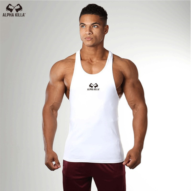 Men Bodybuilding Tank top Gyms Workout Fitness Tight Cotton Sleeveless t shirt clothing Golds Stringer Singlet male Casual Vest