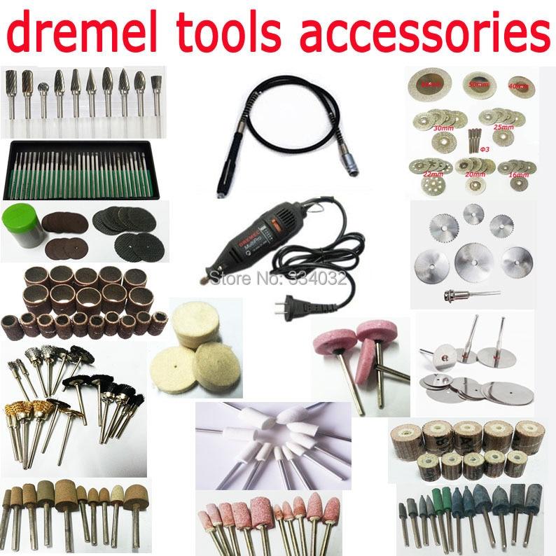 Dremel ротари tool kit dremel аксессуары абразивный глава набор алмазный отрезной диск полировальный круг шлифовальные набор пилы оправки
