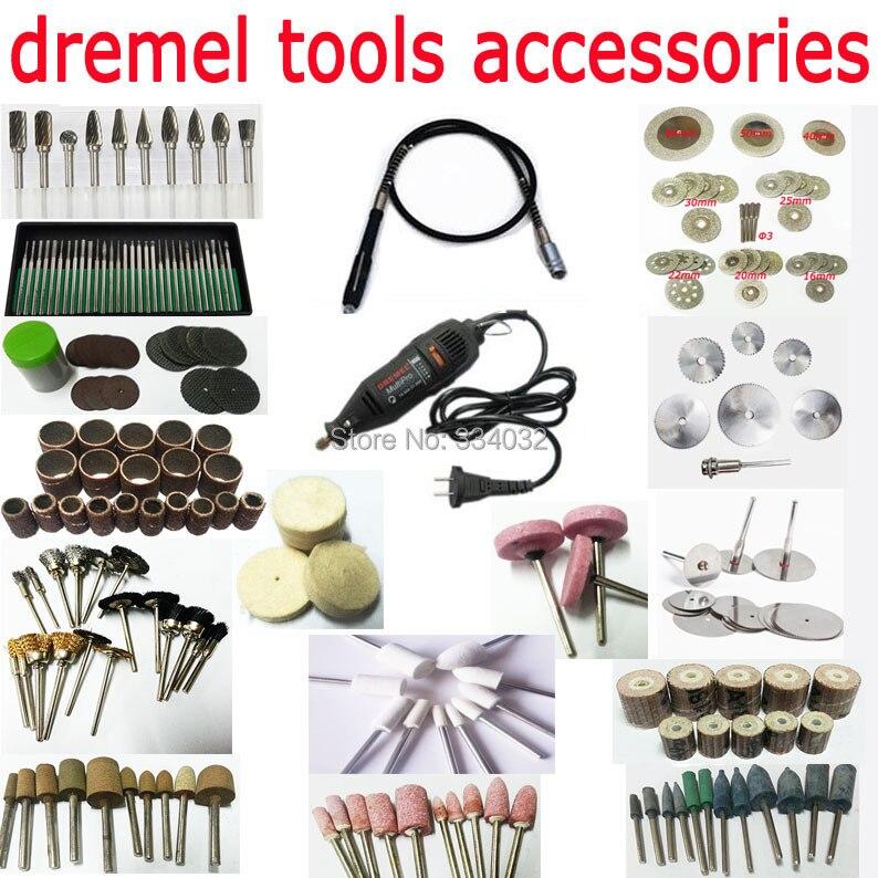 Dremel kit d'outils rotatifs dremel accessoires tête abrasive ensemble disque de coupe diamant meule de polissage ensemble de meulage lame de scie mandrin