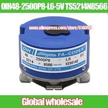 1pcs servo motor encoder OIH48 2500P8 L6 5V TS5214N8566 / OIH48 2500P8 L6 5V tapered shaft encoder for Tamagawa