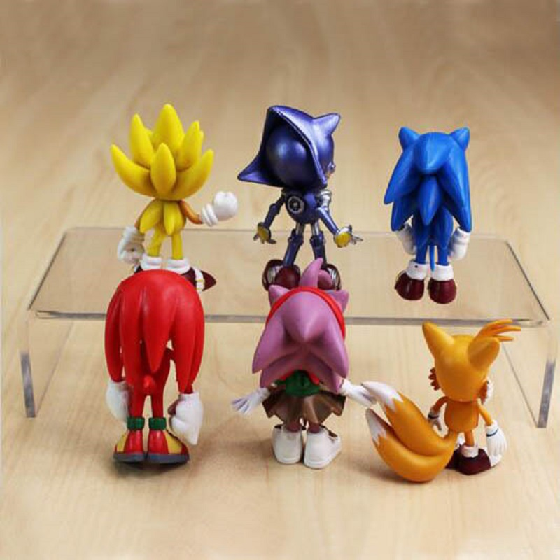 Rings Toys Action Figure Anime Kids Display Gift NEW 3 PC Sonic Collection Pack