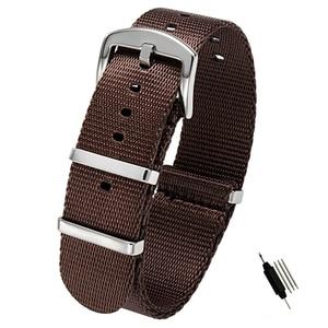 Image 5 - 20mm 22mm Seat Belt Nylon NATO Zulu Strap Heavy Duty Military Watch Band Replacement Watch Straps Black Blue Grey James Bond