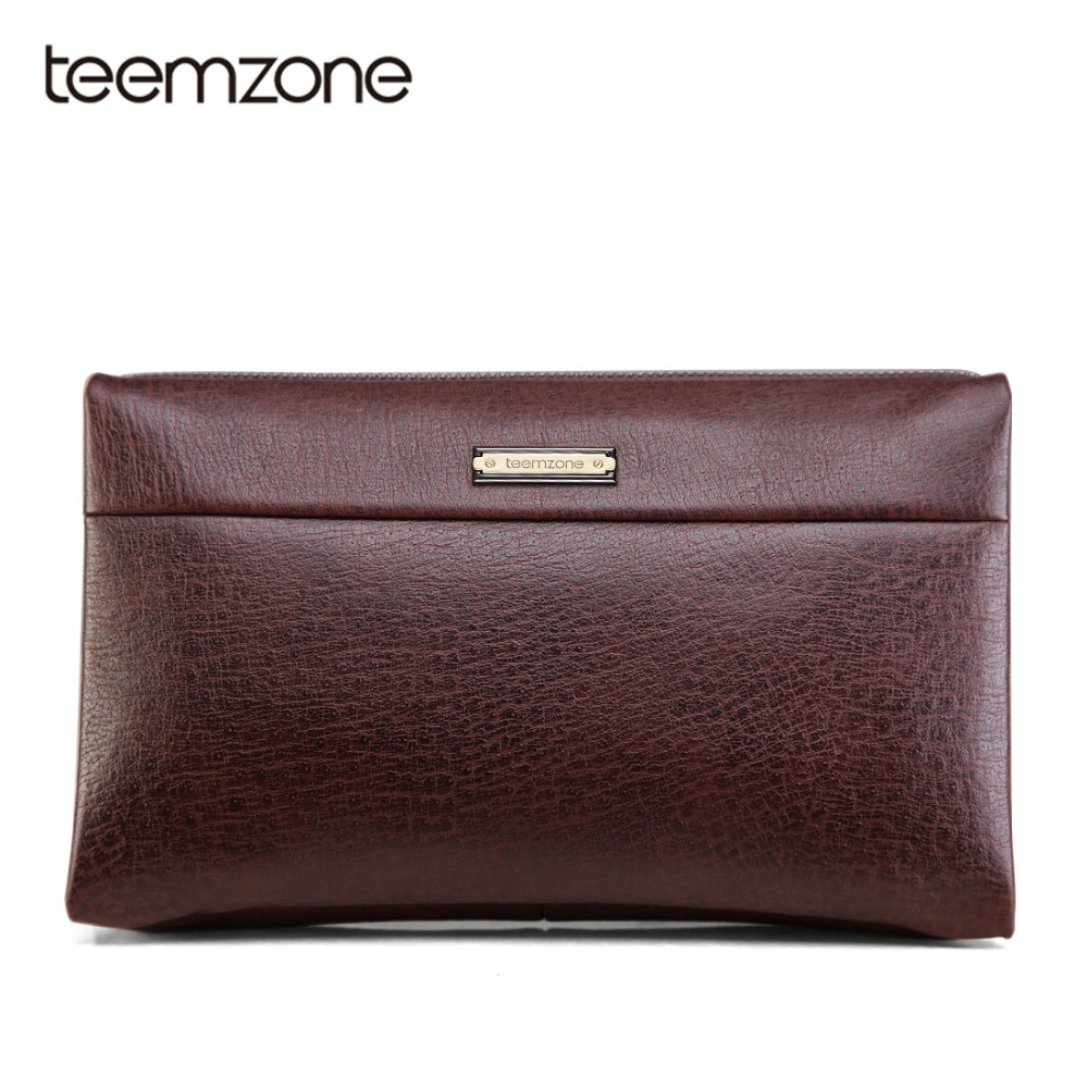 Teemzone Luxury Male Leather Purse Men's Clutch Wallets Handy Bags Business Carteras Mujer Wallets Men Brown Dollar Price S3326