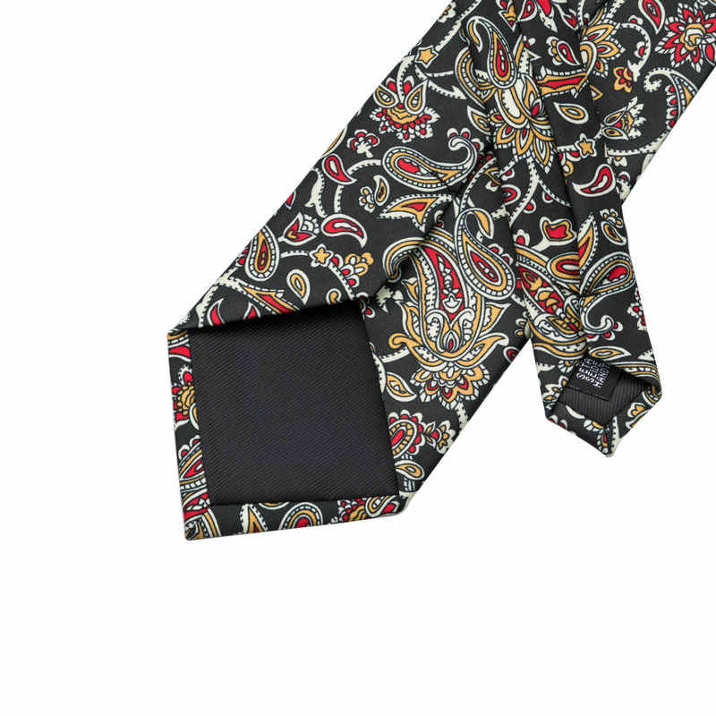 fdde2f3b57fa ... Brand Hi-Tie Vintage Print Necktie Set Floral Mens Tie Hanky Cufflinks  Set For Men