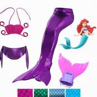 2017 HOT Ariel Mermaid Tail Swimming Mermaid Tail With Flipper Bikini Girls Children Swimmable Mermaid Tail