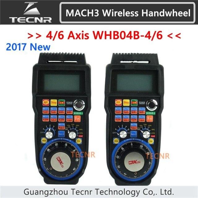 XHC CNC handwheel wireless Mach3 MPG pendant for milling machine 4 6 axis  WHB04B