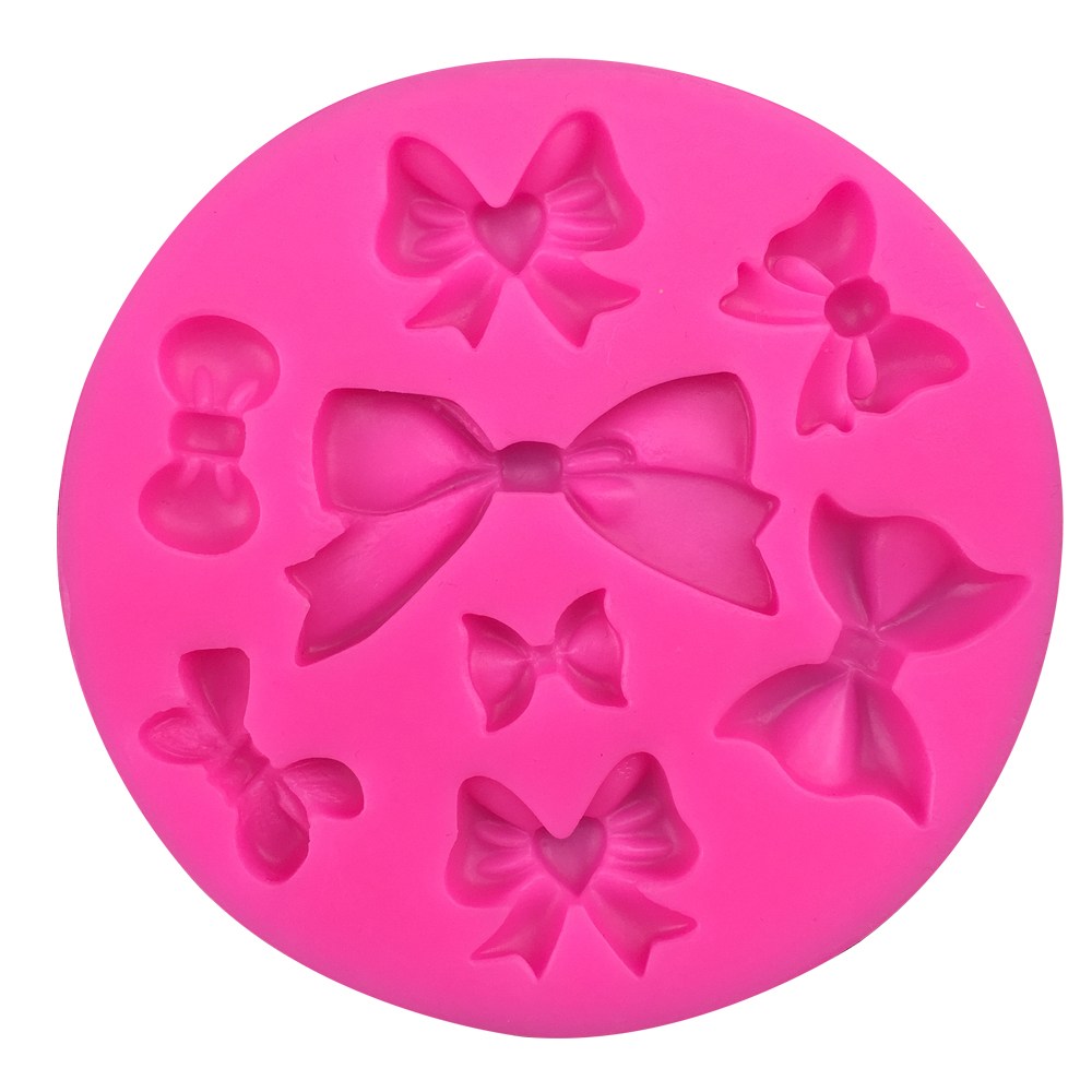 Bow Christmas fondant mold silicone kitchenware fondant wedding cake decoration craft DIY FT-218