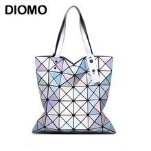 DIOMO Women Handbags Fashion Laser Hologram Luxury Handbags Women Bags Designer Geometric Plaid Bag Casual Tote