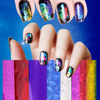 30 50 100 3 Kinds Art Nail Foils WrapsTransfer Glitter Sticker Polish Decoration Fashion Multi