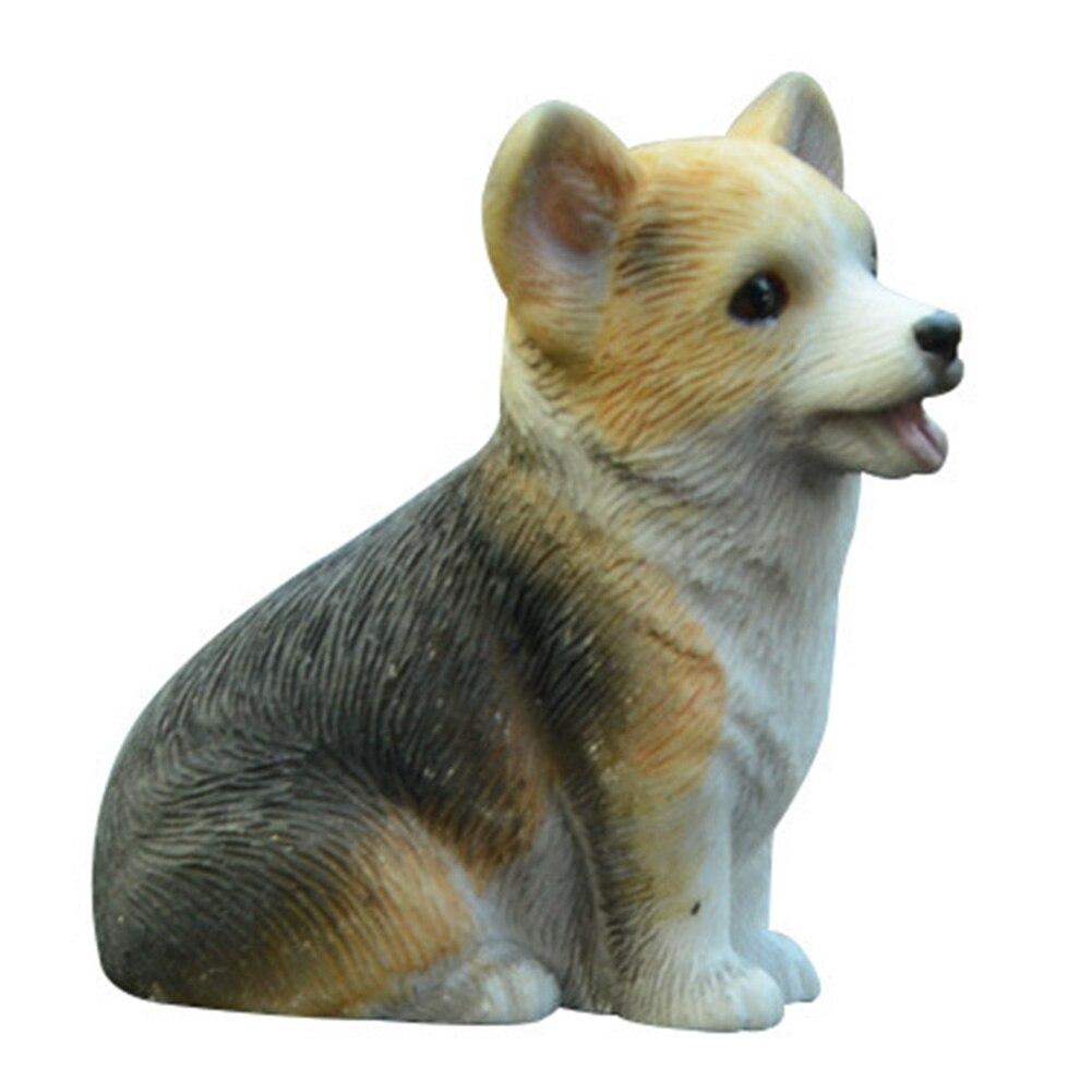 Helpful Resin Mini Corgi Dog Doll Automobile Interior Dashboard Decoration Puppy Toys Furnishings Cute Car Accessories Gift